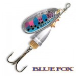 Cuiller Vibrax Fluo RT Blue Fox