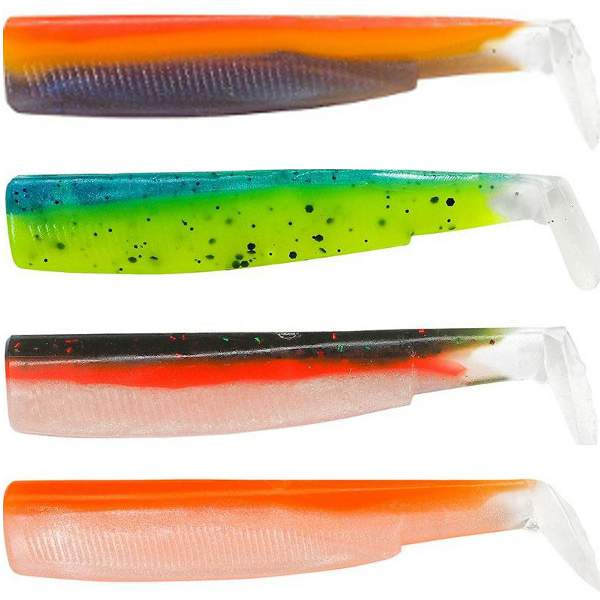 Leurre Souple Black Minnow 120 color box UV Fiiish