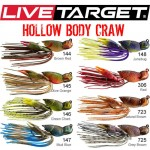 Rubber Jig Hollow body Craw 4cm Live Target